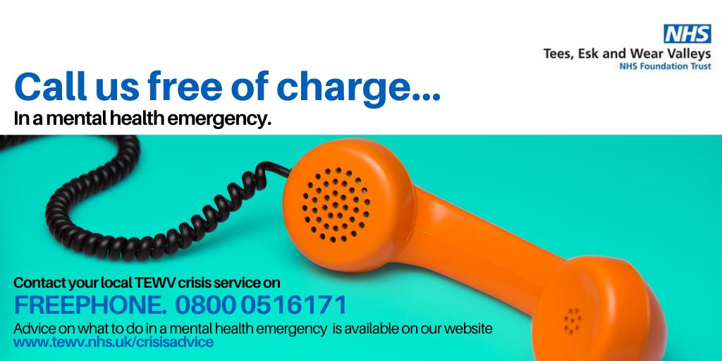 Image of crisis telephone number; 0800 0516171